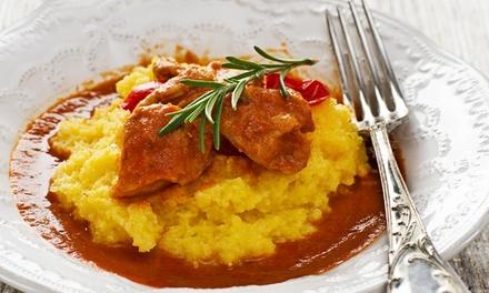 Menu con antipasto, polenta, dolce e vino per 2 o 4 persone al Bobble Pub Ristorante (sconto fino a 69%)