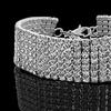 18K White Gold Plated Tennis Bracelet Made with Swarovski Elements