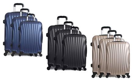 3 teiliges koffer set moskau groupon - Maletas platinium ...