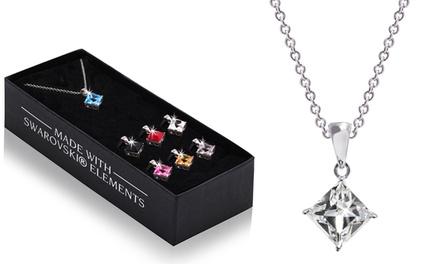 Set di 7 pendenti con cristalli Swarovski® disponibile nei modelli rotondo o quadrato