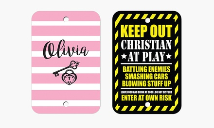 Children's Personalized Oval Door Plate, Street Sign, or Aluminum Sign from Monogram Online (Up to 80% Off)