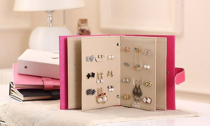 Groupon Goods Global GmbH: Faux Leather Earring Storage Organiser from €12.99 (Up to 58% Off)