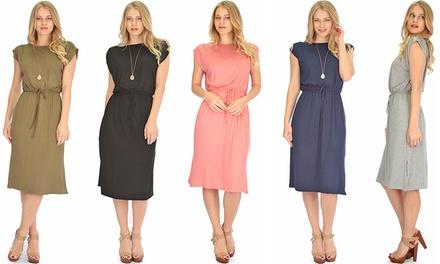 Lyss Loo Womens Classic Waist-Tie Midi Dress