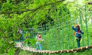 Parco Avventura Valle Cento: 1 o 2 ingressi al parco con 3 percorsi e aperitivo Bio per 2 persone al Parco Avventura Valle Cento (sconto fino al 51%)