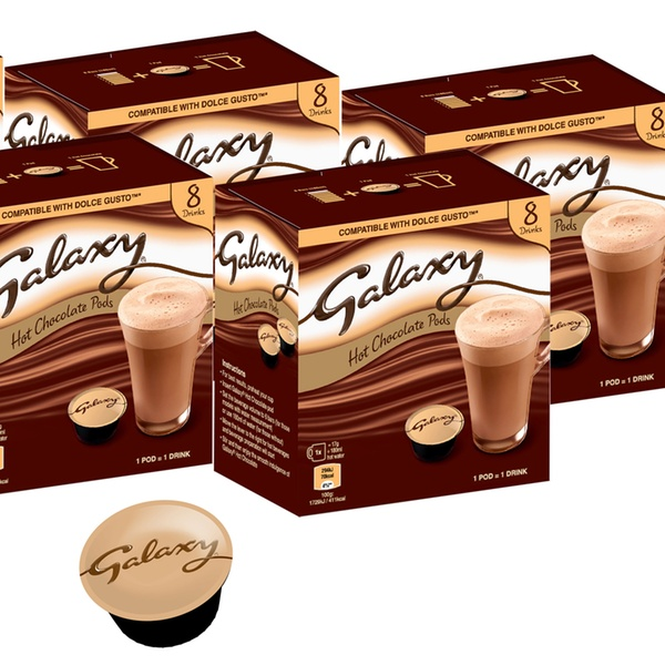 40 Or 80 Galaxy Or Maltesers Chocolate Dolce Gusto Compatible Pods