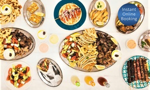 Two Fat Greeks: $55 for Greek Platter Feast with Wine for Two People at Two Fat Greeks (Up to $112.70 Value)