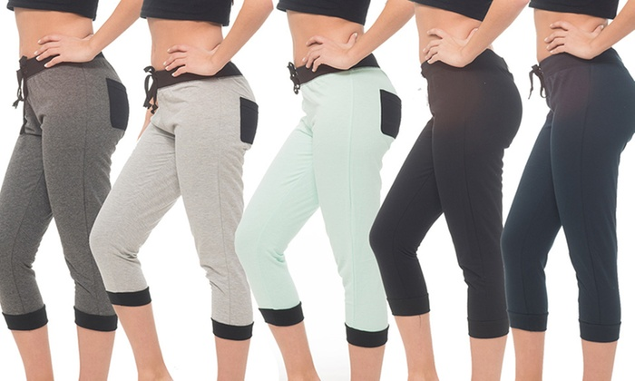 Coco Limon French-Terry Capris (5-Pack)