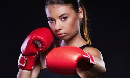 One Month of Women's BoxFit with Twice-Weekly or Unlimited Classes at Champions Freestyle MMA (Up to 71% Off)