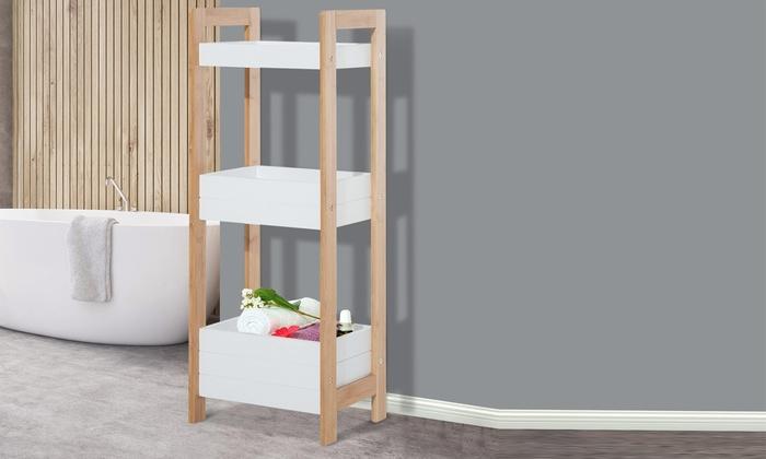 three tier bamboo bathroom caddy - Bathroom Caddy