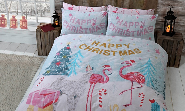 Pieridae Merry & Bright Christmas Duvet Set from £5