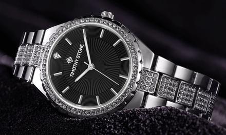 1 ou 2 montres pour femme ornées de cristaux Swarovski®, collection Gala de la marque Timothy Stone, livraison offerte
