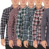 Men's Long Sleeve Warm Flannel Button-Down Shirt
