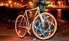 Luce con 128 LED per ruota bici