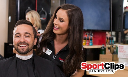MVP Haircut Experience at Sport Clips - Alpharetta Commons (Up to 48% Off)