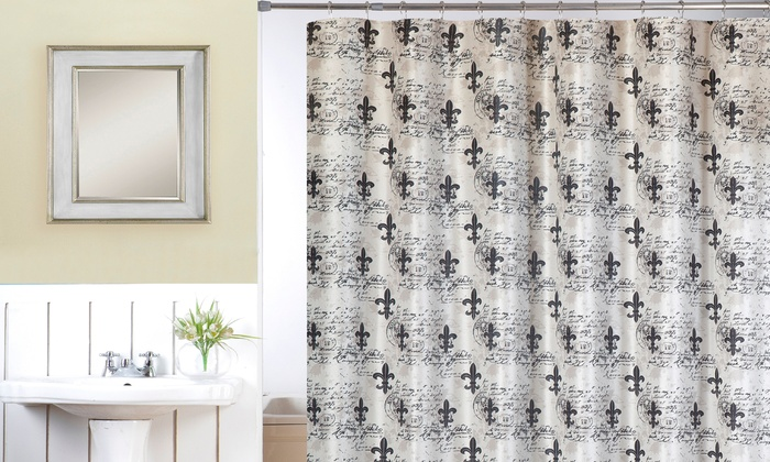 Fleur de lis shower curtain set groupon goods - Fleur de lis shower curtains ...