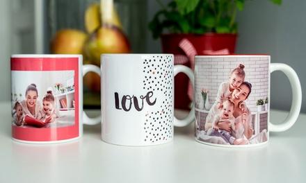 Mug photo magique ou mug avec intérieur coloré entièrementpersonnalisés
