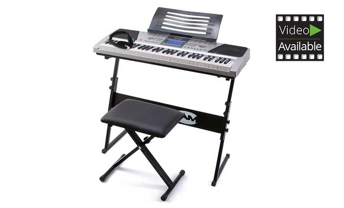 Rock Jam RJ661 Keyboard with Stand, Stool and Headphones for £74.99 With Free Delivery