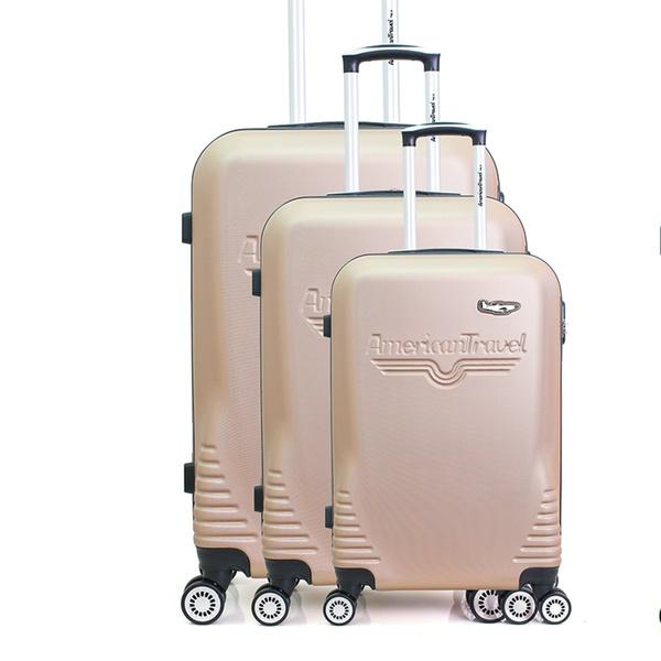 Résistant Ultra Et Travel Valises Set 3 Léger American jA35Rq4L