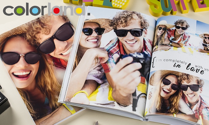 Colorland: One or Two Personalised A4 Hardcover Photobooks with Up to 60 Pages from Colorland (Up to 84% Off)