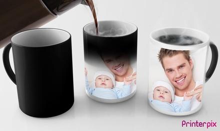 1, 2 o 3 foto-tazas collage o mágicas con imagen personalizable en Printerpix (ES) (hasta 82% de descuento)