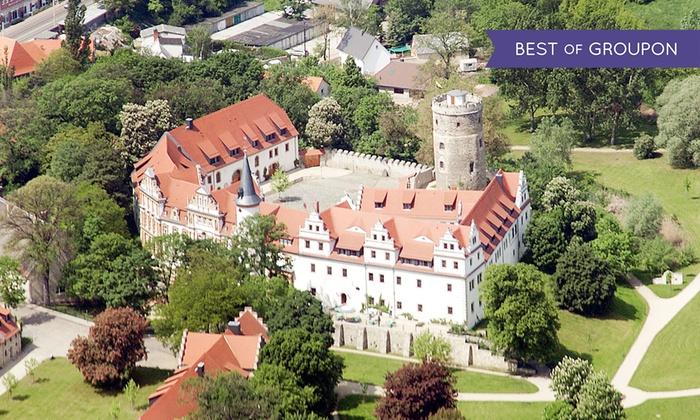 Schlosshotel Schkopau - Schlosshotel Schkopau: Nahe Leipzig: 3 Tage für 2 inkl. Frühstück, Begrüßungssekt, 1x 4-Gänge-Menü mit 1 Fl. Wein im 4* Schlosshotel Schkopau
