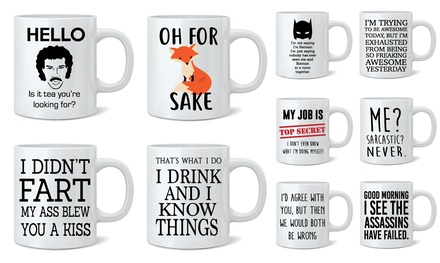 One or Two Novelty Print Mugs