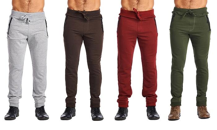 Indigo People Men's Zipper-Pocket Joggers