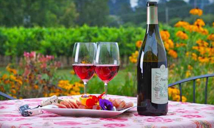 Duck Pond Cellars - Newberg: $10 for Reserve List Wine Tasting for Two with Cheese & Meat Plate at Duck Pond Cellars ($22 value)