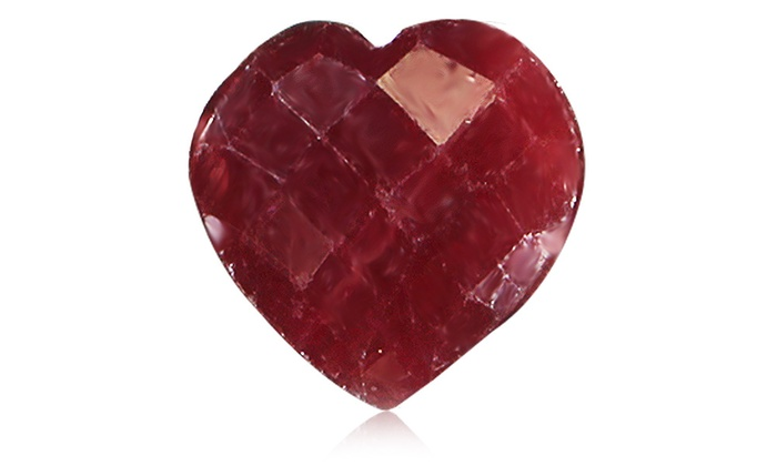 3 50 Cttw Heart Shaped Ruby With Gift Box Groupon