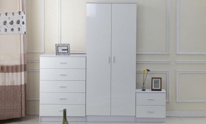 Homcom Three-Piece Wardrobe Set With Free Delivery