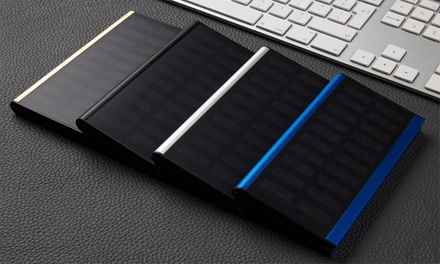 Powerbank solar ultrafino 20000mAh con dos salidas USB y linterna LED