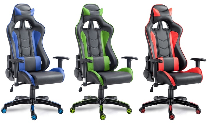Super Up To 32 Off On High Back Reclining Gaming Chair Groupon Spiritservingveterans Wood Chair Design Ideas Spiritservingveteransorg