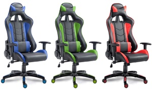 Costway High Back Executive Racing Reclining Gaming Chair Swivel