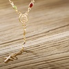 Rosary Necklace in 18K Gold Plating by Sevil