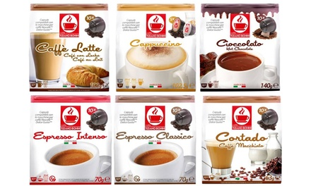 Sixty Dolce Gusto Compatible Coffee or Hot Chocolate Capsules