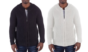 Xray Jeans Men's Full Zip Knitted Sweater