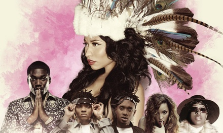 July 22, 2015 at 7PM: One G-Pass Ticket to Nicki Minaj: The Pinkprint Tour, General Admission Lawn - Nicki Minaj: The Pinkprint Tour in Bristow