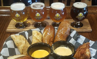 image for 2 Draft Beer Pints or 2 Flights with Pretzel and Beer Cheese at The Casual Pint of Farragut (Up to 30% Off)