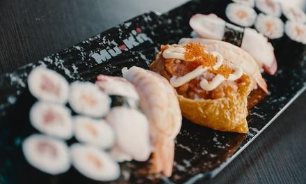 Japanisches All you can eat Lunch Menü Asian Tapas für 2 oder 4 Personen bei Mu Kii Dortmund City (bis zu 22% sparen*)