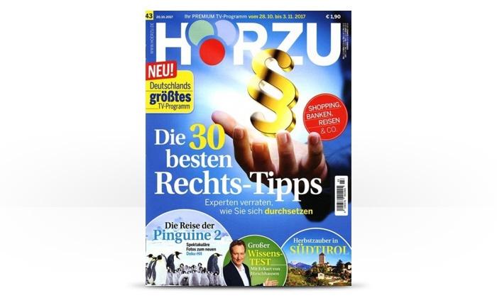 Eventus Media GmbH: Halbjahres-Abo (26 Ausgaben) der Zeitschrift Hörzu frei Haus (91% sparen*)