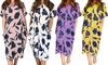Floral Print Loose Fit Long Tunic Dress