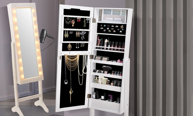 $119 For A Wide Free Standing Mirrored Jewellery Cabinet