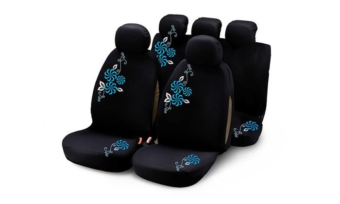 auto schonbez ge mit blumen groupon goods. Black Bedroom Furniture Sets. Home Design Ideas
