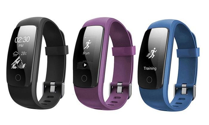 "Factory Wholesale Trade: $39.95 for an ID107Plus HR Weather Display GPS Fitness Tracker with 0.96"" OLED Touchscreen"