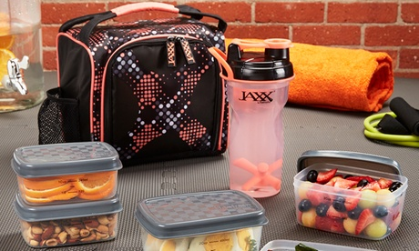 Jaxx FitPak Meal Prep Set and Shaker Cup (10-Piece)