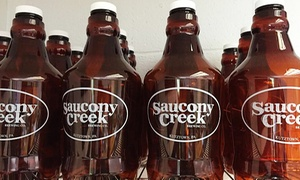 Saucony Creek Brewing Company: Craft-Beer Tasting with Take-Home Growlers for Two or Four at Saucony Creek Brewing Company (Up to 28% Off)