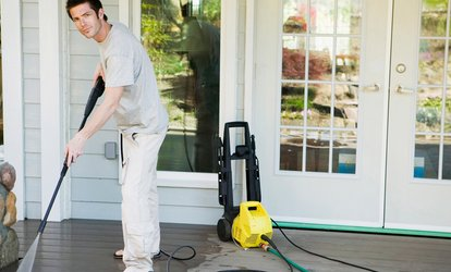 image for Pressure Washing for a House and Optional Driveway from G2 Landscaping Services (Up to 46%  Off)