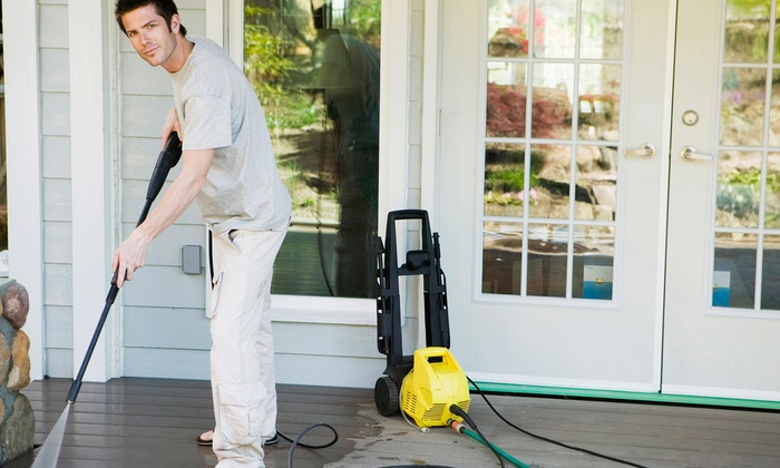QCCS Inc. - Dayton: Pressure Washing Services for One- or Two-Story Home or Driveway & Sidewalk from QCCS Inc. (Up to 57% Off)
