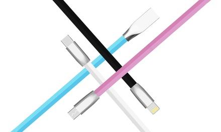 Cavo ultraresistente per ricariche: 1 cavo Micro-USB / Nero