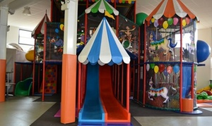 Lets Play Indoor Playground: Lets Play Indoor Playground: 1 Adult + 1 ($9) or 2 Children ($15), or 10 Passes for 1 Child & 1 Adult ($90) (Up to $170)